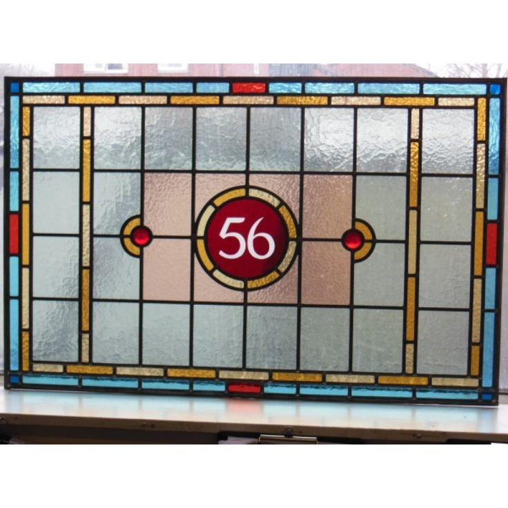 Victorian Edwardian 7 Panel Stained Glass Exterior Original Door ' The Star'