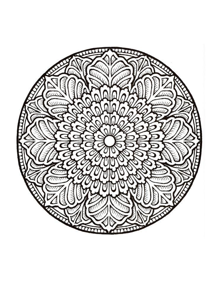 Coloring For Adults Kleuren Voor Volwassenen Mandalas Aaa Malen Nach Zahlen Vorlagen Mandala Ausmalen Mandala Zum Ausdrucken