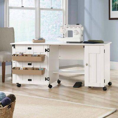 Tablas de costura y gabinetes con ruedas estantes ajustables de Almacenamiento Contenedores Doble Hoja