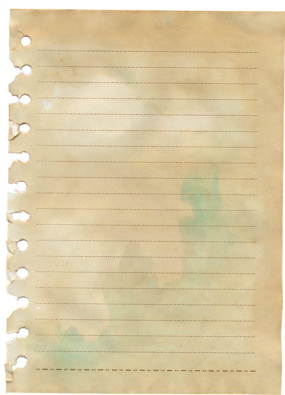Vintage Notebook Paper for journaling and background ~ Zibi Vintage Scrap ordn Div-Schreibp..