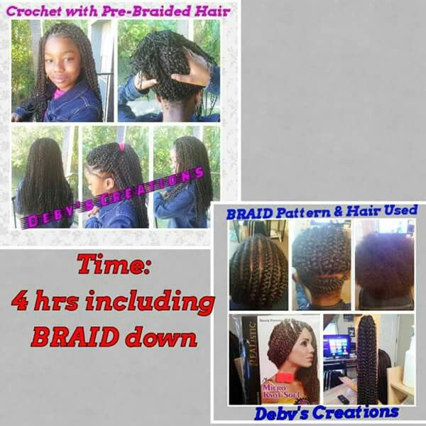 Crochet with pre braided hair