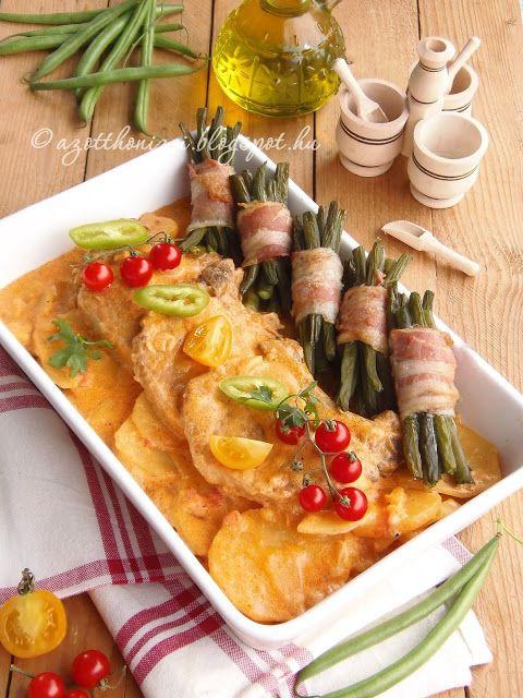 Az otthon ízei: Temesvári sertésborda szalonnás zöldbabrőzsével