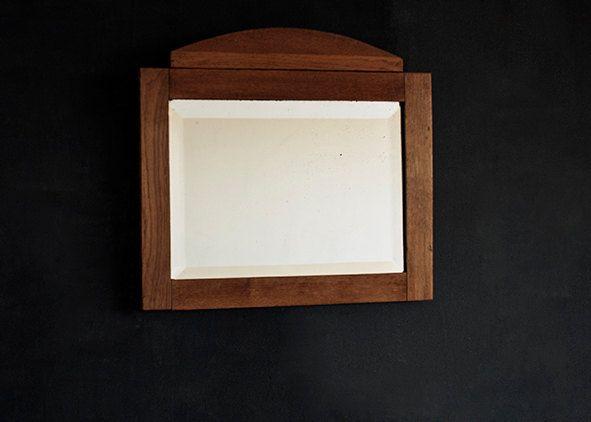 Vintage Beveled Mirror, Decorative Wall Mirror, Wall Mirror, Bathroom Mirror, Make Up Mirror, Old Mirror, Art Deco Mirror, Wood frame by Europetastetic on Etsy