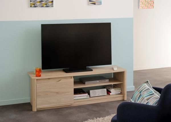 Willow, TV cabinet in Dakota Oak finish effect