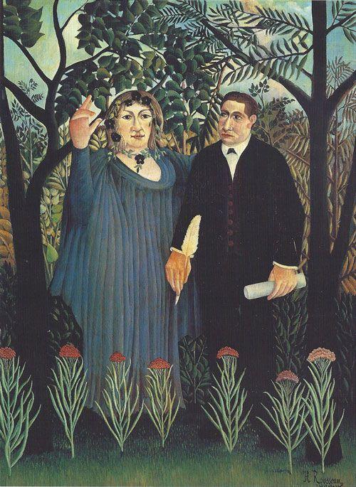 """""""La musa che ispira il poeta"""", 1909 - Henri Rousseau."""
