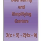 This activity contains 10 centers of 5 problems each. The problems review distribution and distribution plus simplification. I group students in ...