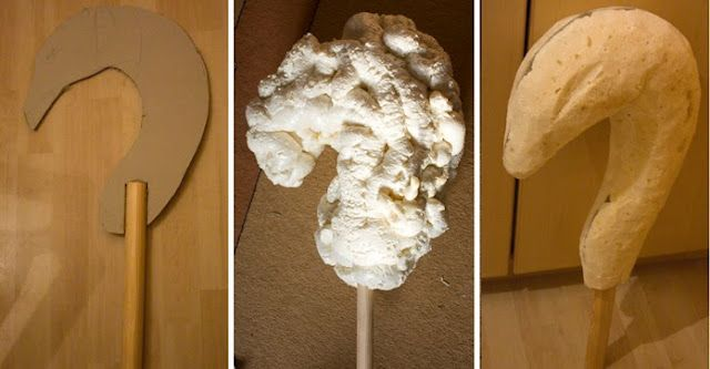 Tutorial for using expanding foam for prop-making.
