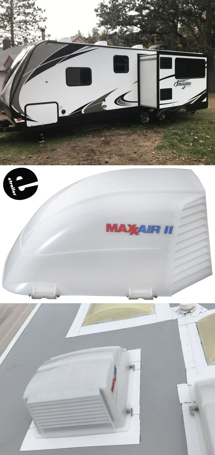 maxxair ii rv and enclosed trailer roof vent cover white campers maintenance repair pinterest roof vents rv and camp trailers - Trailer Roof Vent