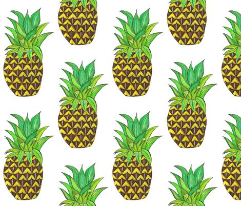 perky pinapple fabric by rosy_lees on Spoonflower - custom fabric
