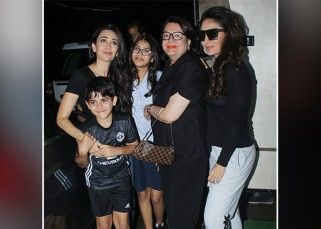 Kareena Kapoor Khan and Karisma Kapoor look drop dead gorgeous as they twin in black for their family outing