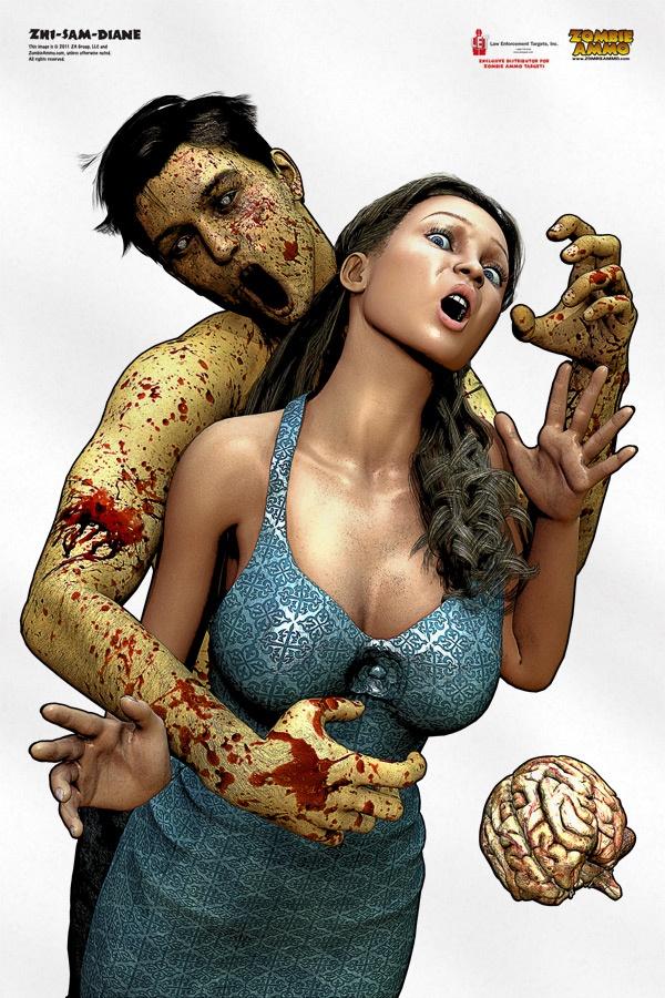 Sam & Diane: Zombie hostage target makes target shooting more fun!