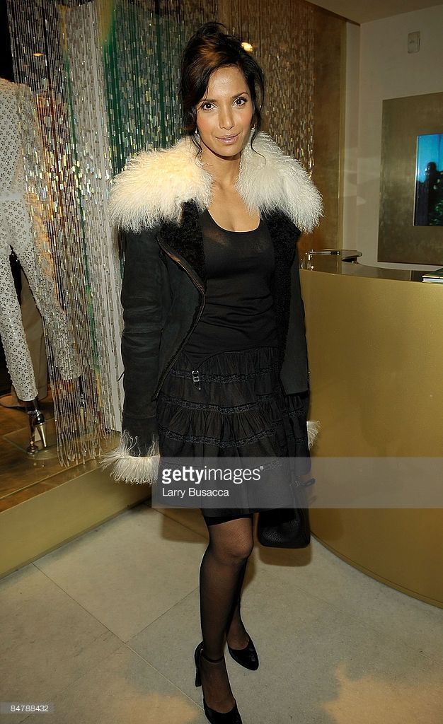 TV Personality Padma Lakshmi attends the Michael Roberts Book Party hosted by Eva & Roberto Cavalli during Mercedes-Benz Fashion Week at Roberto Cavalli Boutique on February 13, 2009 in New York City.