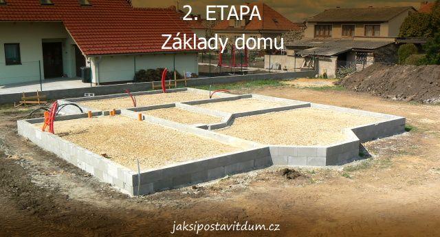 2. ETAPA | ZÁKLADY DOMU | Zdění základů domu (druhá část)