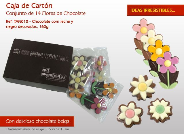 Flores en chocolate se pierda ....¡Ideas originales en el chocolate!