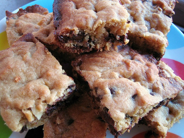 chocolate chip walnut squares | Brownies & Bars | Pinterest