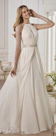 Sencillos vestidos de novias   Moda elegante