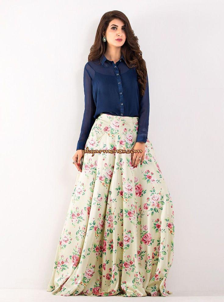 Floral Chiffon Skirt | Dresscab