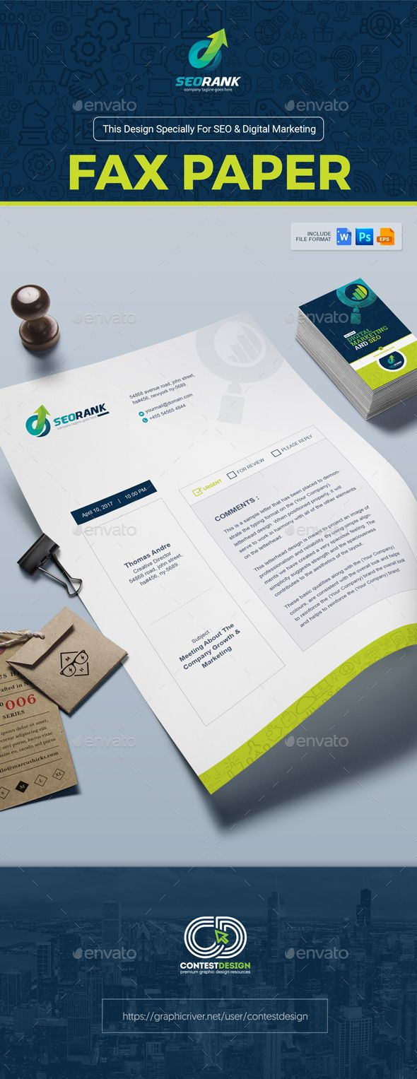 Fax Paper / Cover Sheet Template for SEO (Search Engine Optimization) & Digital Marketing Agency