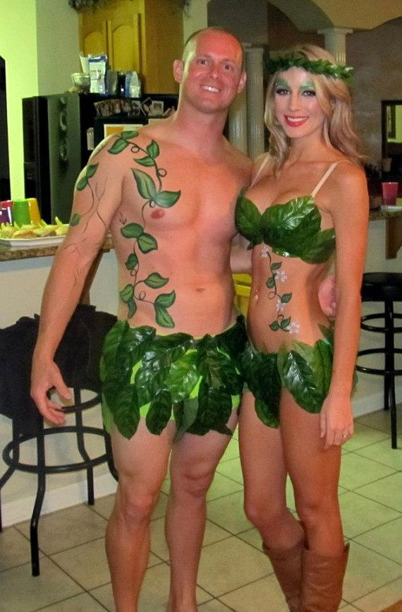 DIY: Adam & Eve Halloween Costume for a couple #Creative #Easy