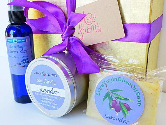 lavender gift set  bath gift set   new mom gift  by AromaScentsLLC