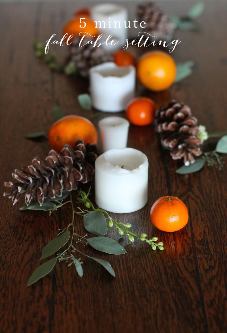 5 minute Thanksgiving table setting - easy & inexpensive centerpiece tutorial you can create yourself!