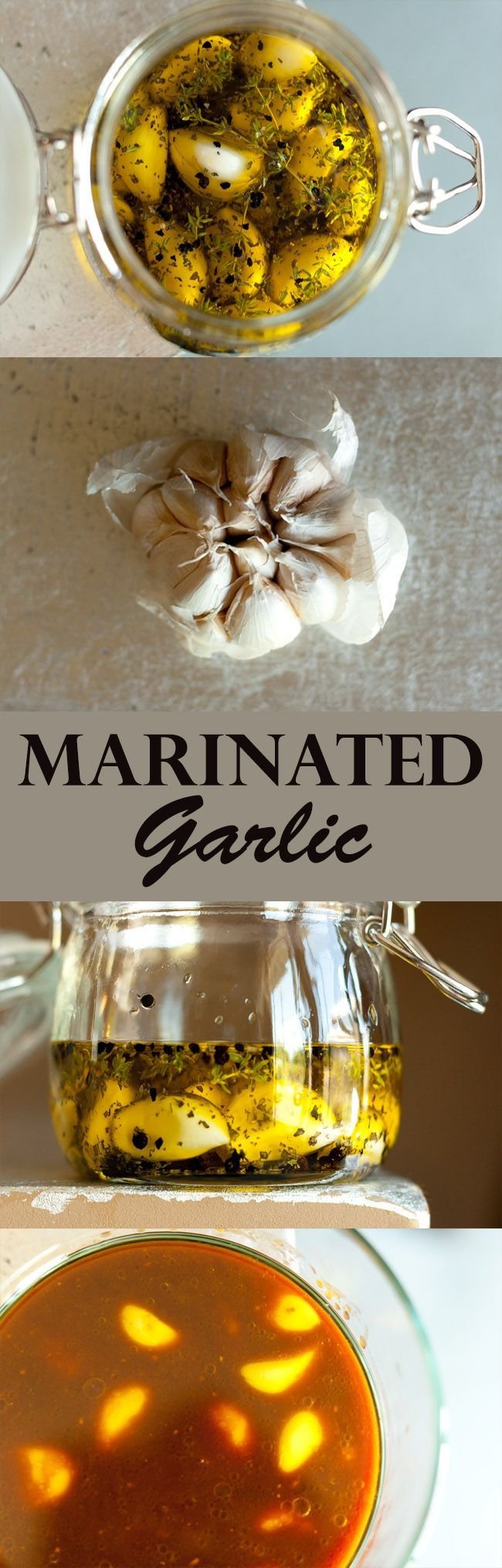 Marinated Garlic… two ways! Herb & Spice Marinated Garlic and Japanese-style Soy-Miso Marinated Garlic