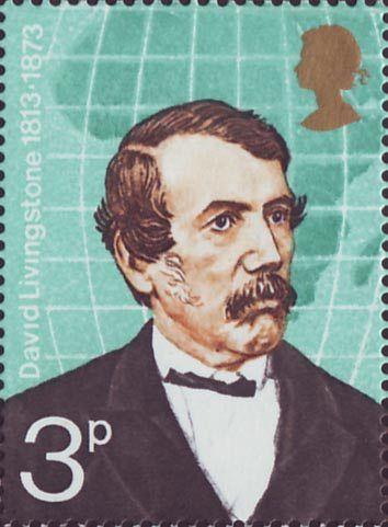 British Explorers 3p Stamp (1973) David Livingstone