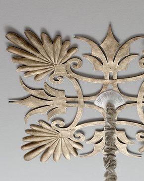 Acanthus Ceiling Medallion - traditional - ceiling lighting - Horchow