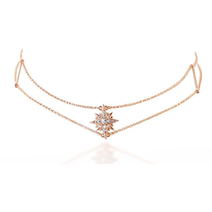 Starburst pink gold vermeil chain choker