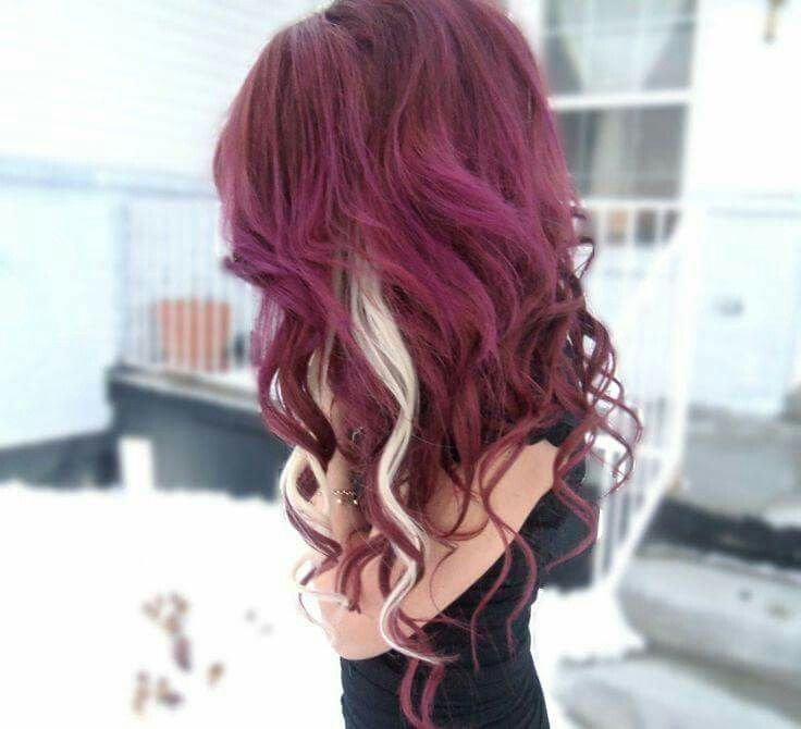 Also loving the burgundy with the platinum peekaboo