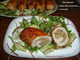 Schab z kapustą kiszoną, Schab faszerowany kapustą, kotlety schabowe z kapustą i pieczarkami, Kuchnia u Krysi