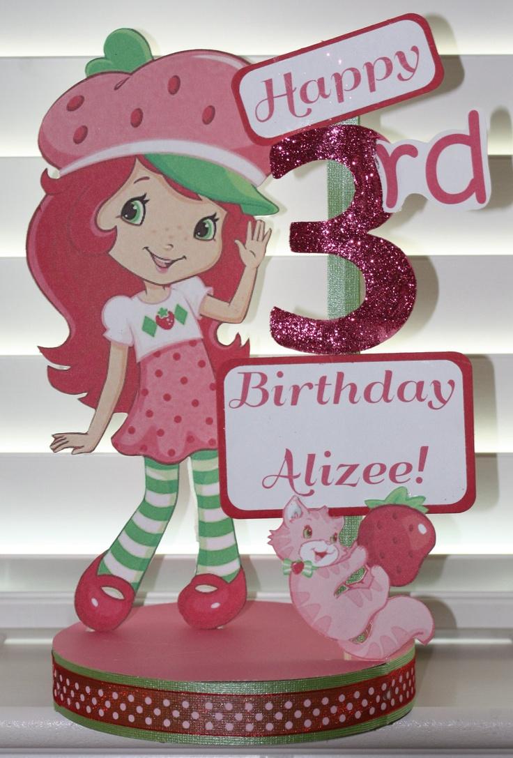 Strawberry Shortcake Birthday Party Custom Centerpiece