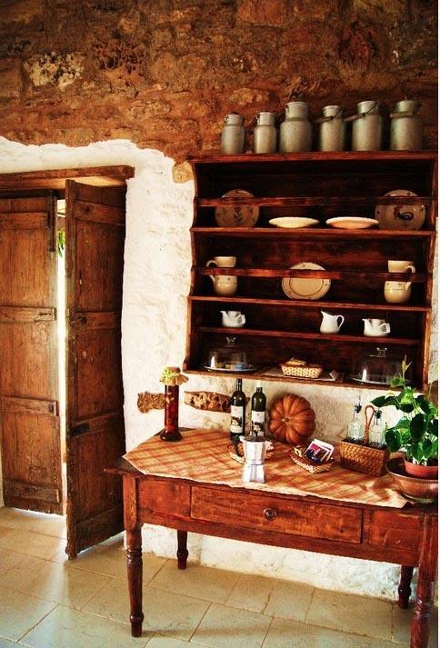 Puglia style kitchen, South Italy.