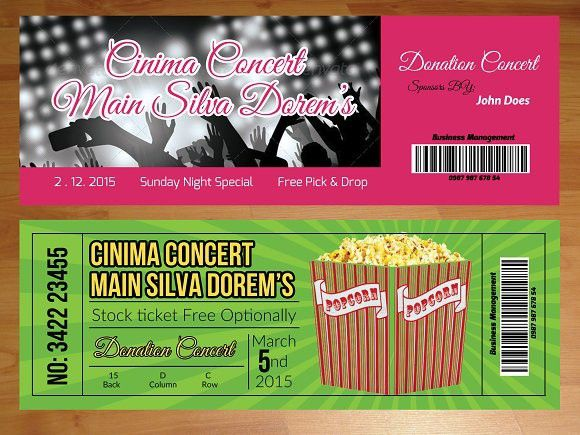 2 Entry Tickets Template. Invitation Templates. $5.00