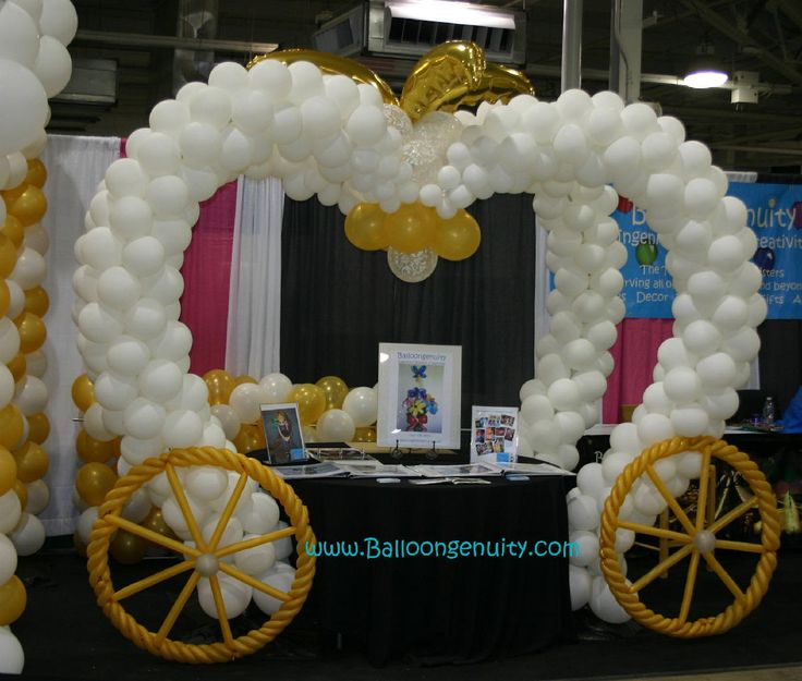Balloon Carriage Wedding Decor