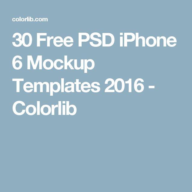 30 Free PSD iPhone 6 Mockup Templates 2016 - Colorlib