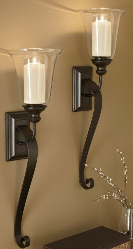 stately candle sconce depending on size these could work next to tv