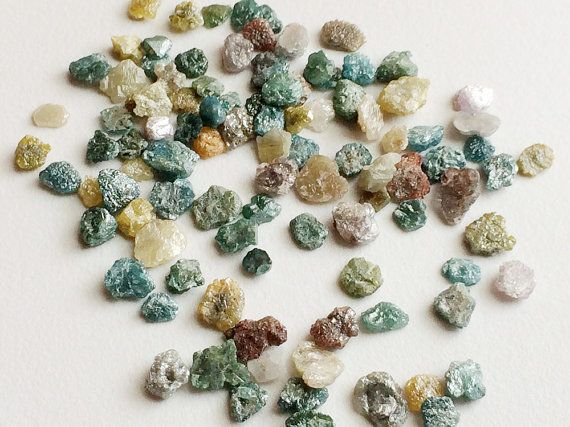 10 CTW Multi Color Rough Diamond Slices 4-6mm by gemsforjewels