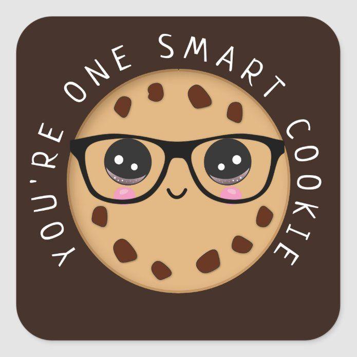 Smart Cookie Teacher Student Reward Award Square Sticker | Zazzle