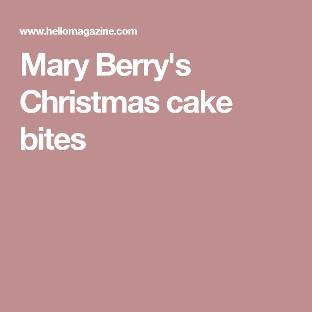 Mary Berry's Christmas cake bites