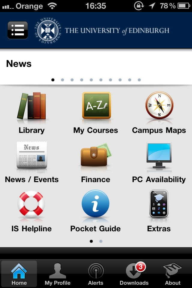 Download the U@Ed app for leading mobile platforms such as iOS and Android. http://www.ed.ac.uk/schools-departments/information-services/services/computing/comms-and-collab/mobilecampus/using-mobilecampus