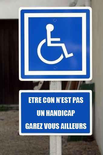L'arme de l'humour (vache) pour protéger les places handicapées