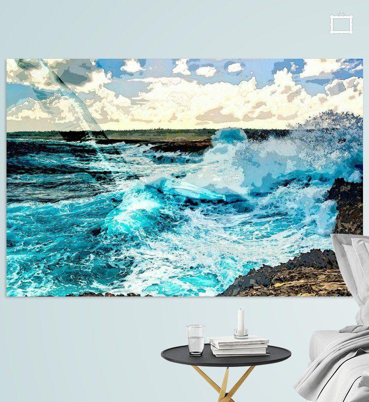 Nieuw in mijn Werk aan de Muur shop: Uit de oceaan verrezen  #art #style #vtwdbeurs #vtwdb #wonen #kunst