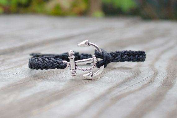 Unisex Anchor Bracelet  Adjustable Silver Anchor by DBJshop, $13.50