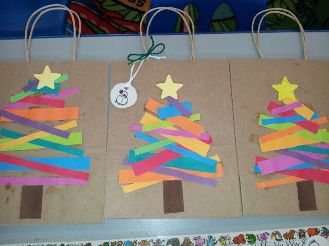 Preschool Christmas gift bags and tags.