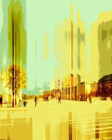 Hamburg-City von Kay Weber bei artflakes.com als Poster oder Kunstdruck $19.41