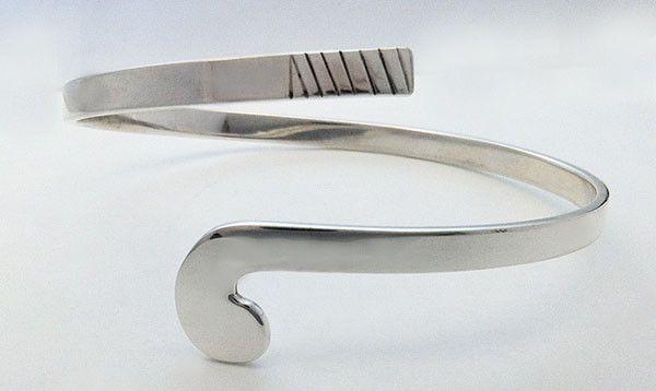 Field Hockey Stick Wrap Bracelet in Sterling Silver