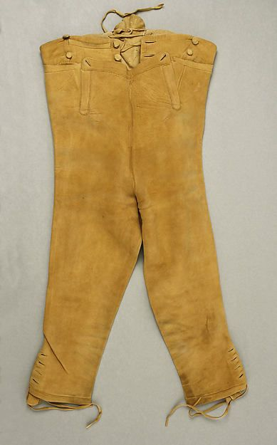 Breeches, 1807-1817, American, Made of leather