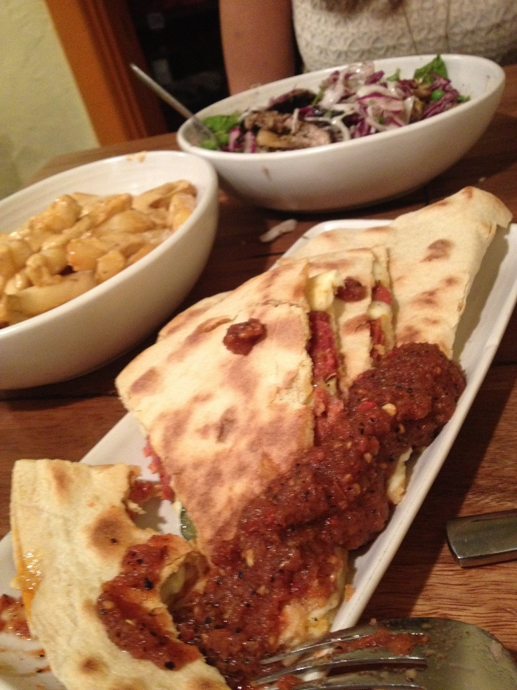 MEXICAN - Chorizo Quesadilla, Grilled Chiken Ensalata and Chips with Aioli from Fondas - 248 SWAN ST RICHMOND