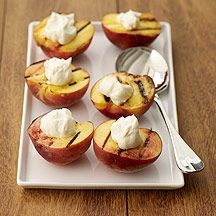 Grilled Peaches.  Peaches are in Season and this was so easy to make.  Like Peach cobbler without all the extra calories.